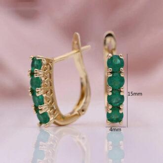 Green Earrings Size